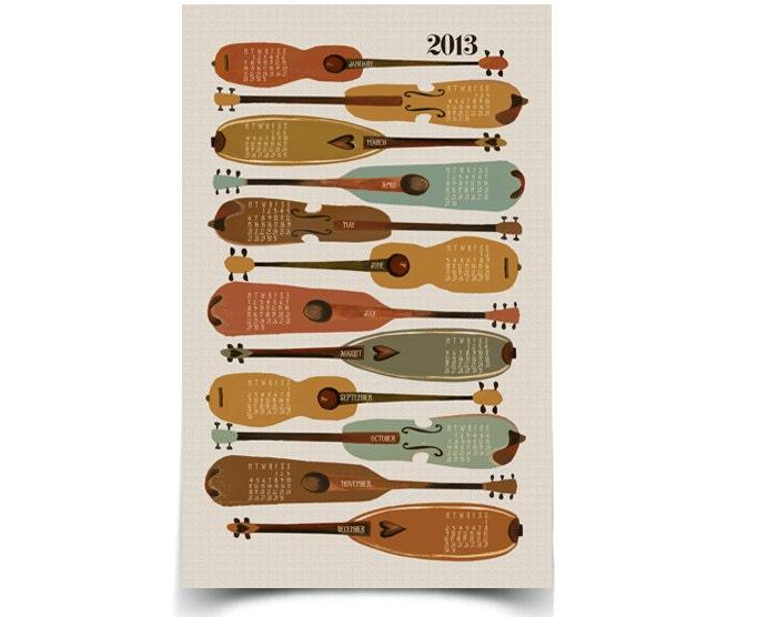 2013 Instruments Wall Calendar