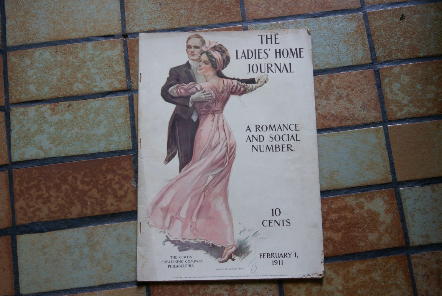 Vintage Complete Magazine The LADIES HOME JOURNAL February 1911 Harrison Fisher Cover