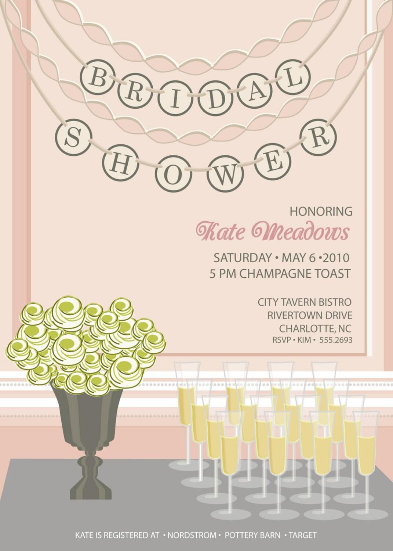 Bridal Shower Invitation - Champagne Toast