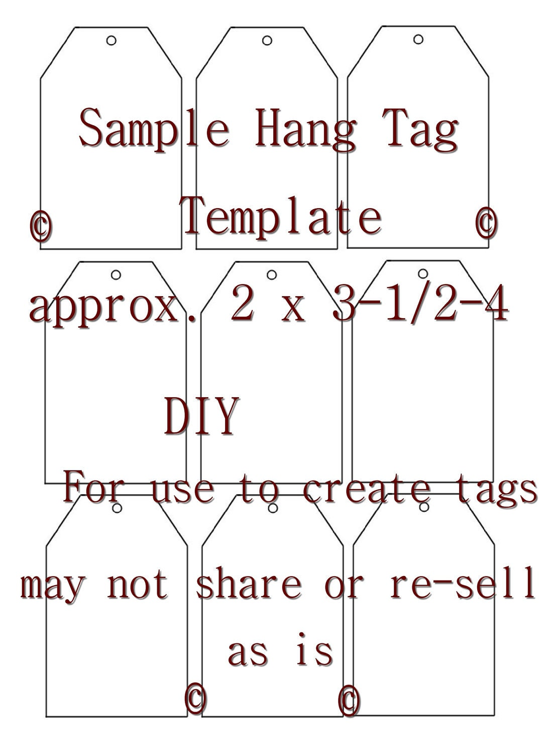 Clever image regarding free printable hang tags