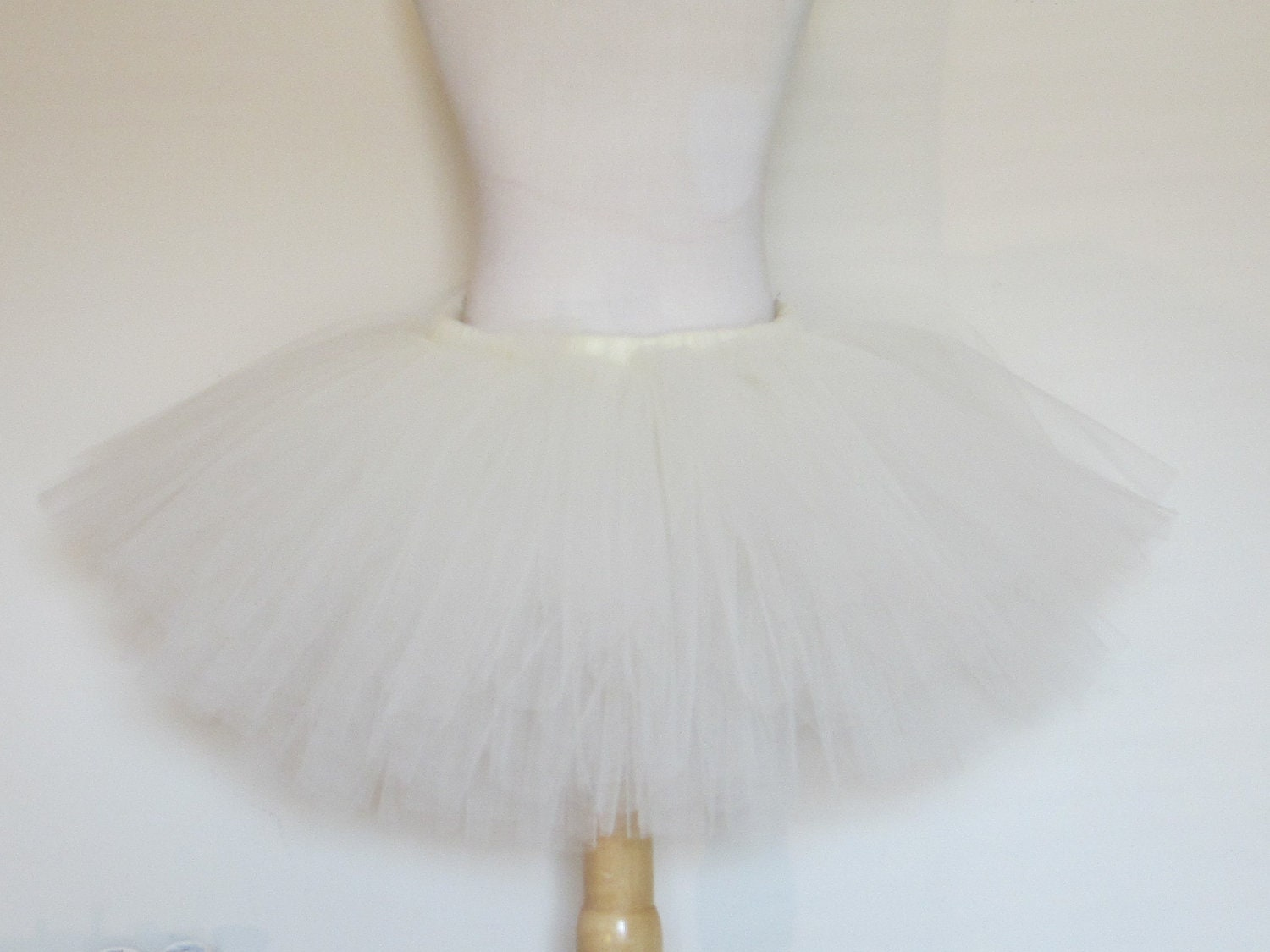 Ivory or White Tutu Skirt Solid Toddler Girls Flower Girl Wedding by American Blossoms