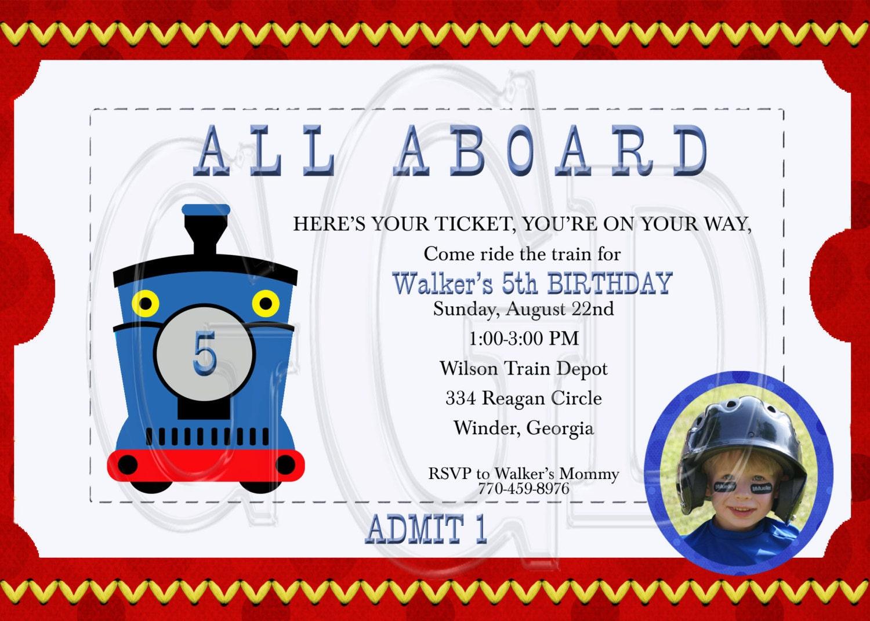 Thomas The Train Ticket Invitation Template | Gallery