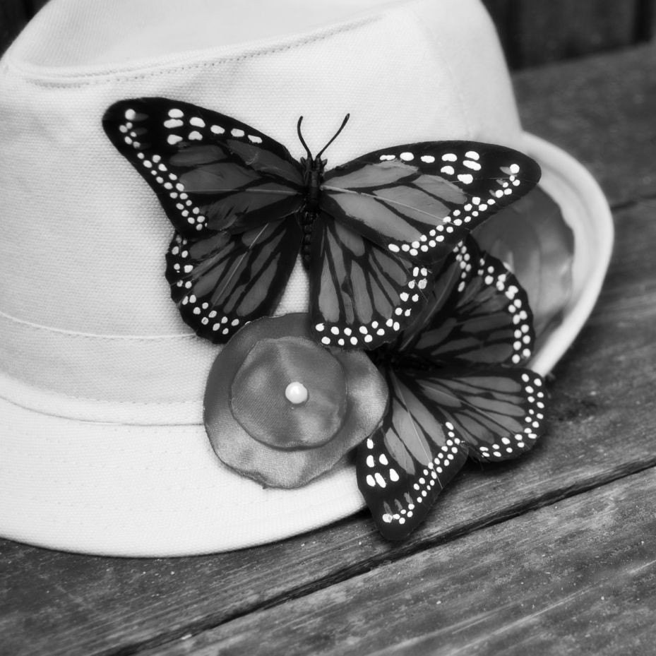 Butterfly Flowers Fedora Hat-You Be The Designer