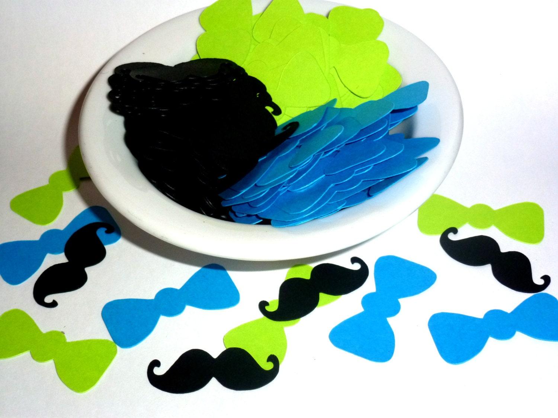 100 mustache bow tie confetti little man party little man party