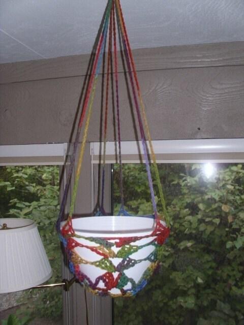 Retro Style Crocheted Plant Hanger/Indoor Plant Hangers