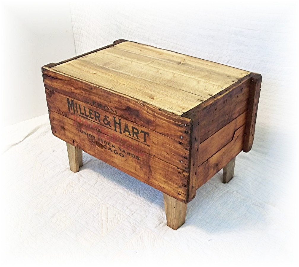 Primitive Shipping Crate Coffee Table MiLLER HART By