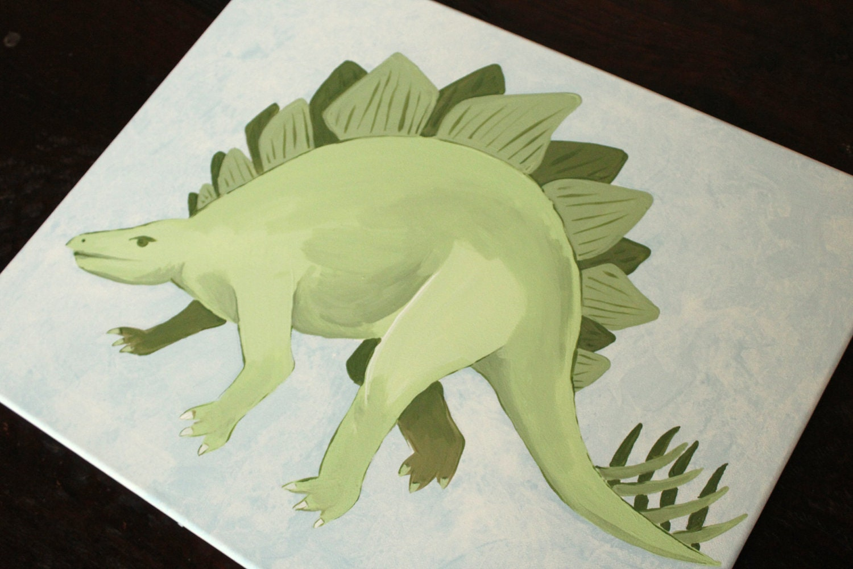 Stegosaurus, 16x20, READY YO SHIP