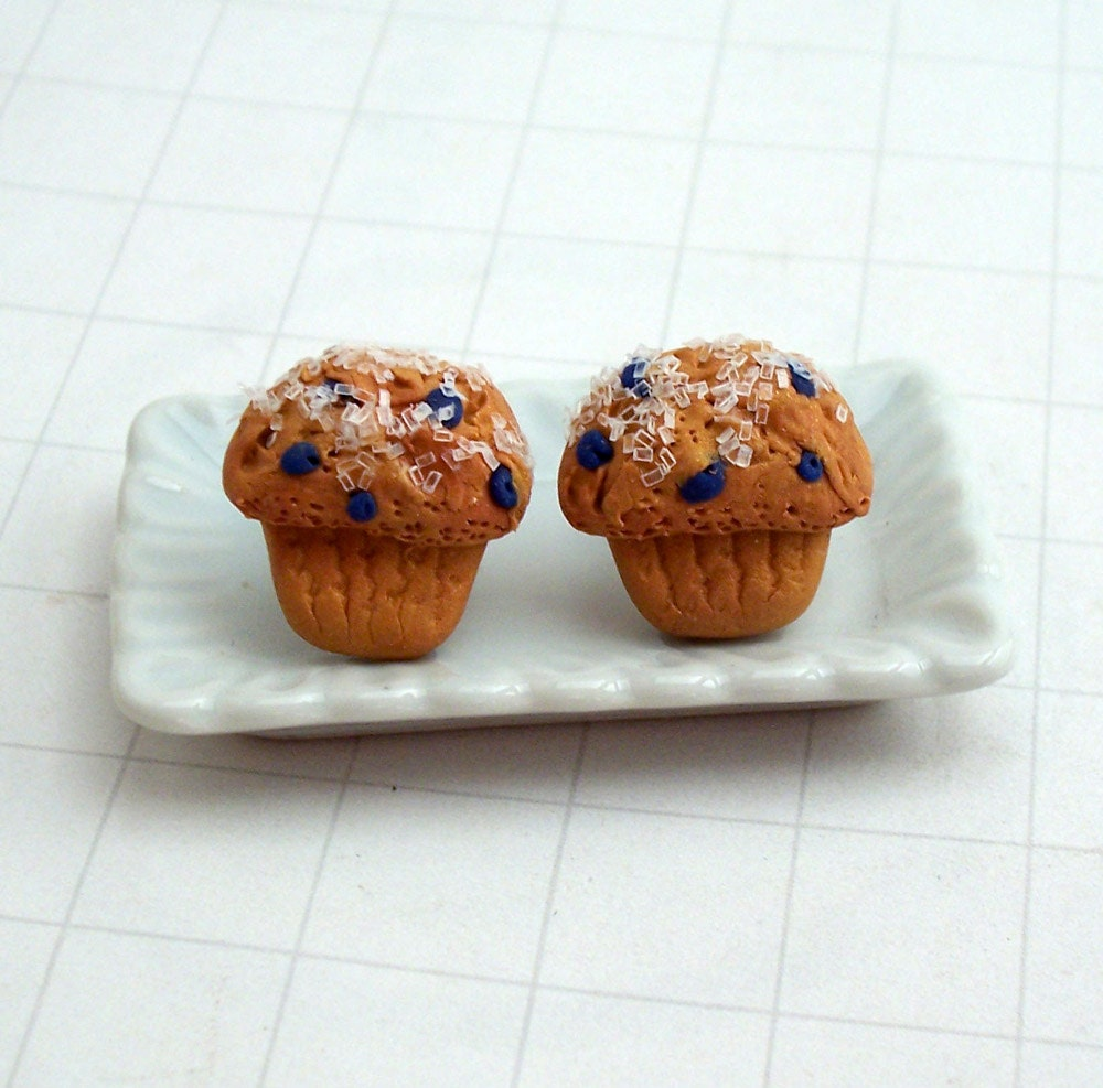 Blueberry Muffin Post Earrings