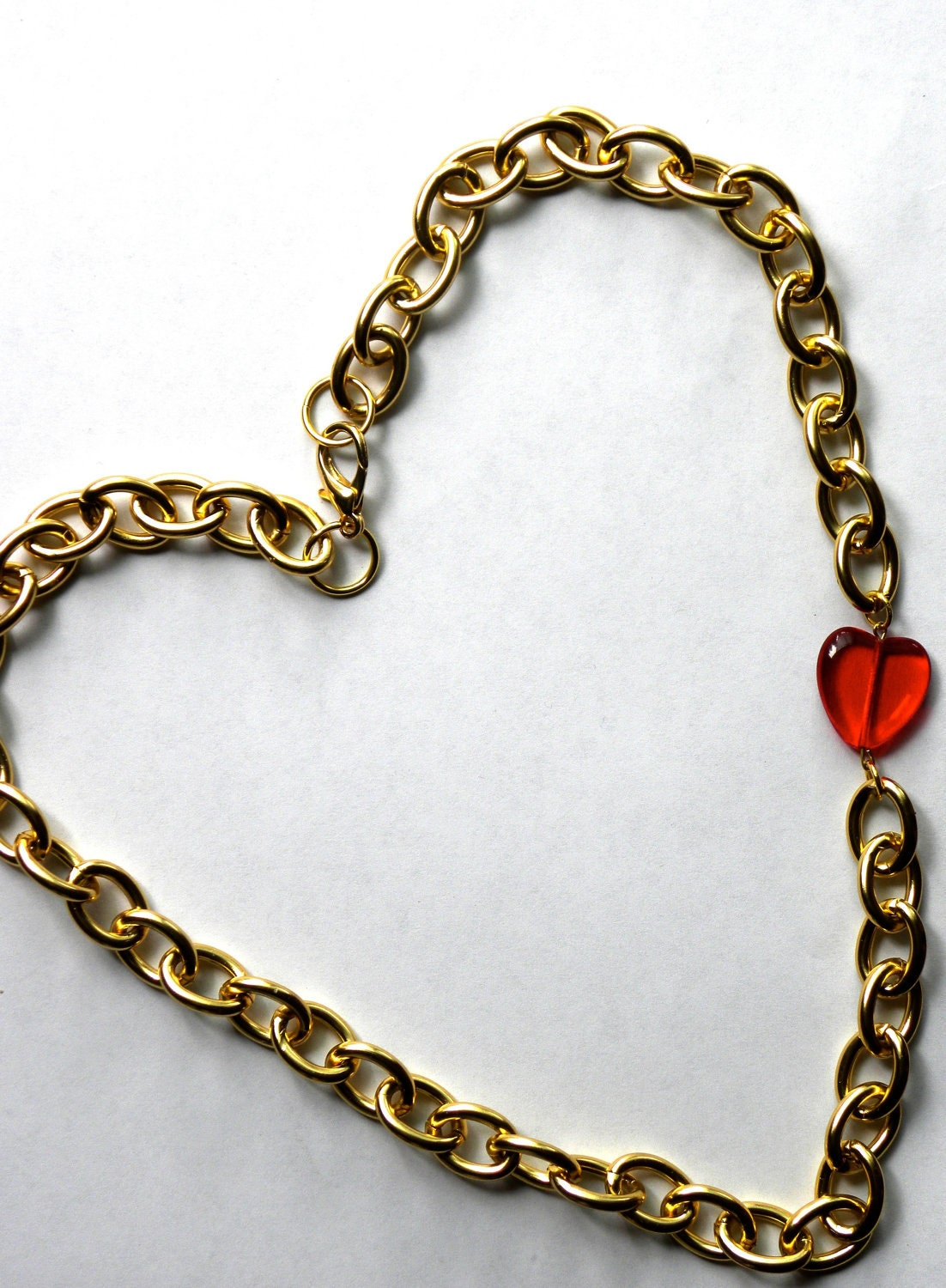 Mercy Red Heart Necklace