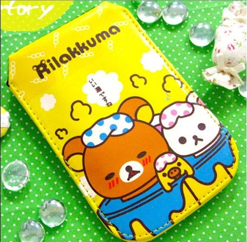 RILAKKUMA Relax Bear Protective Case Bag Pouch for Cell Mobile Phone Camera MP3 MP4 -  iPhone, Samsung Galaxy, Blackberry, Nokia, HTC, Sony