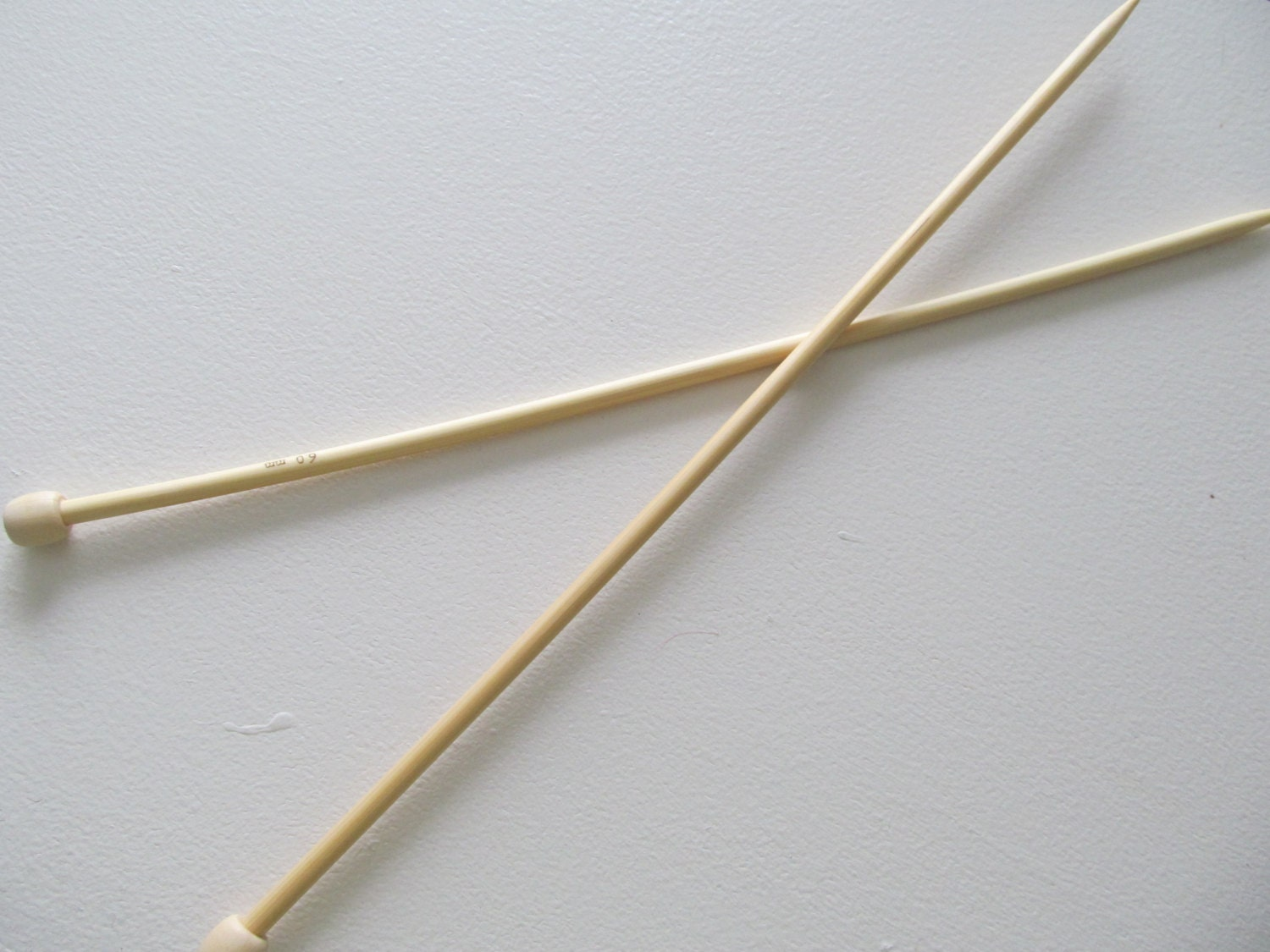 Knitting Needles Mm : Size knitting needles mm bamboo wood inch long by