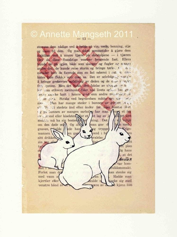 Rabbit family -  Print