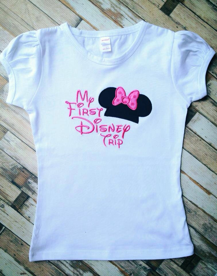 my first disney inspired trip shirt by lillysbowtique on etsy