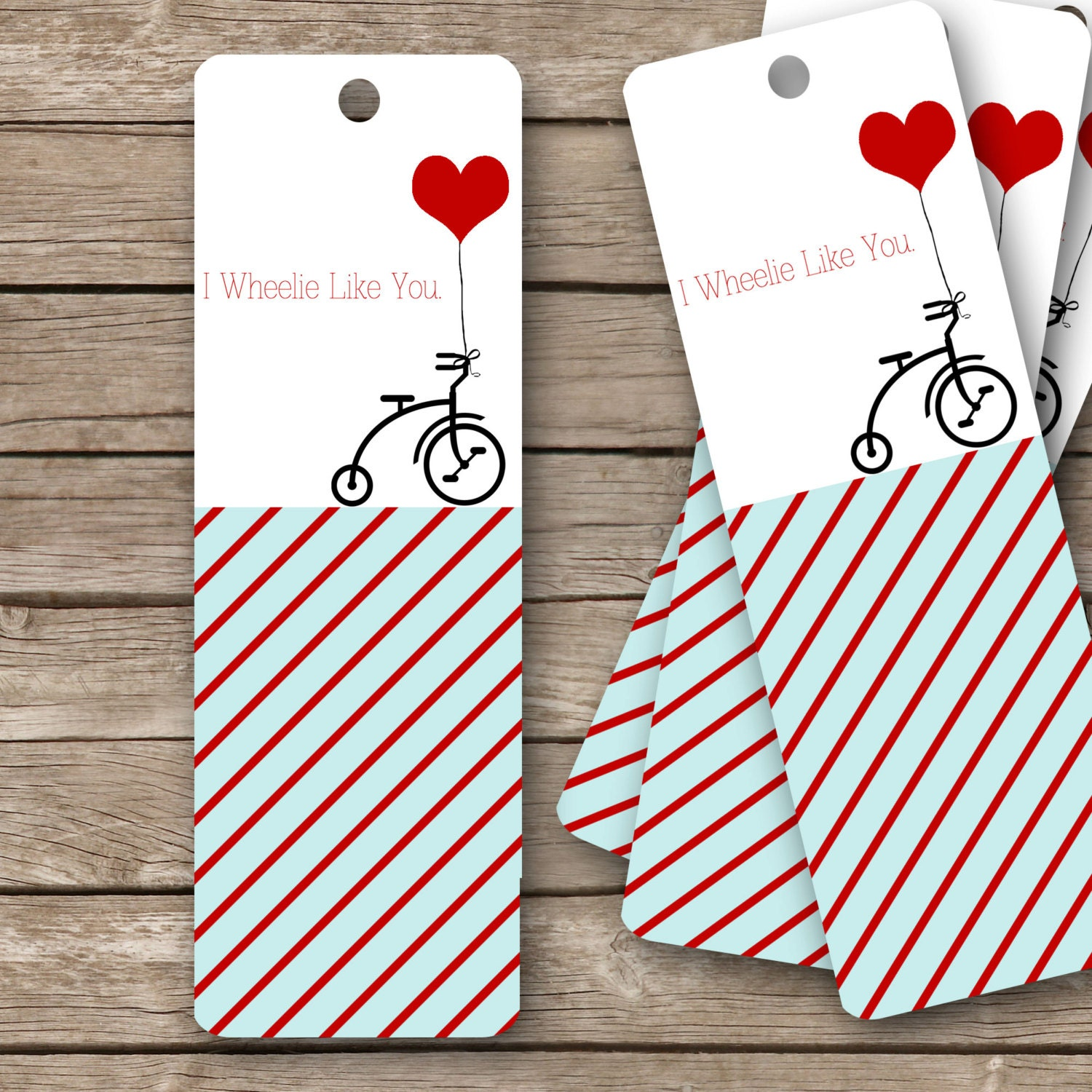 Légend image with printable valentine bookmarks