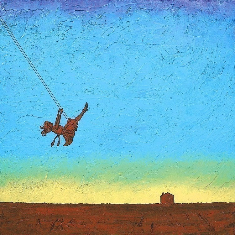 Sale - Art Print - HIGH HOPES- by Robert David Bretz - blue sky-inspirational