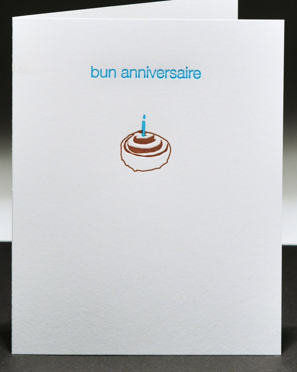 Happy Birthday/Bun Anniversaire - (french inspired) Letterpress Greeting Card
