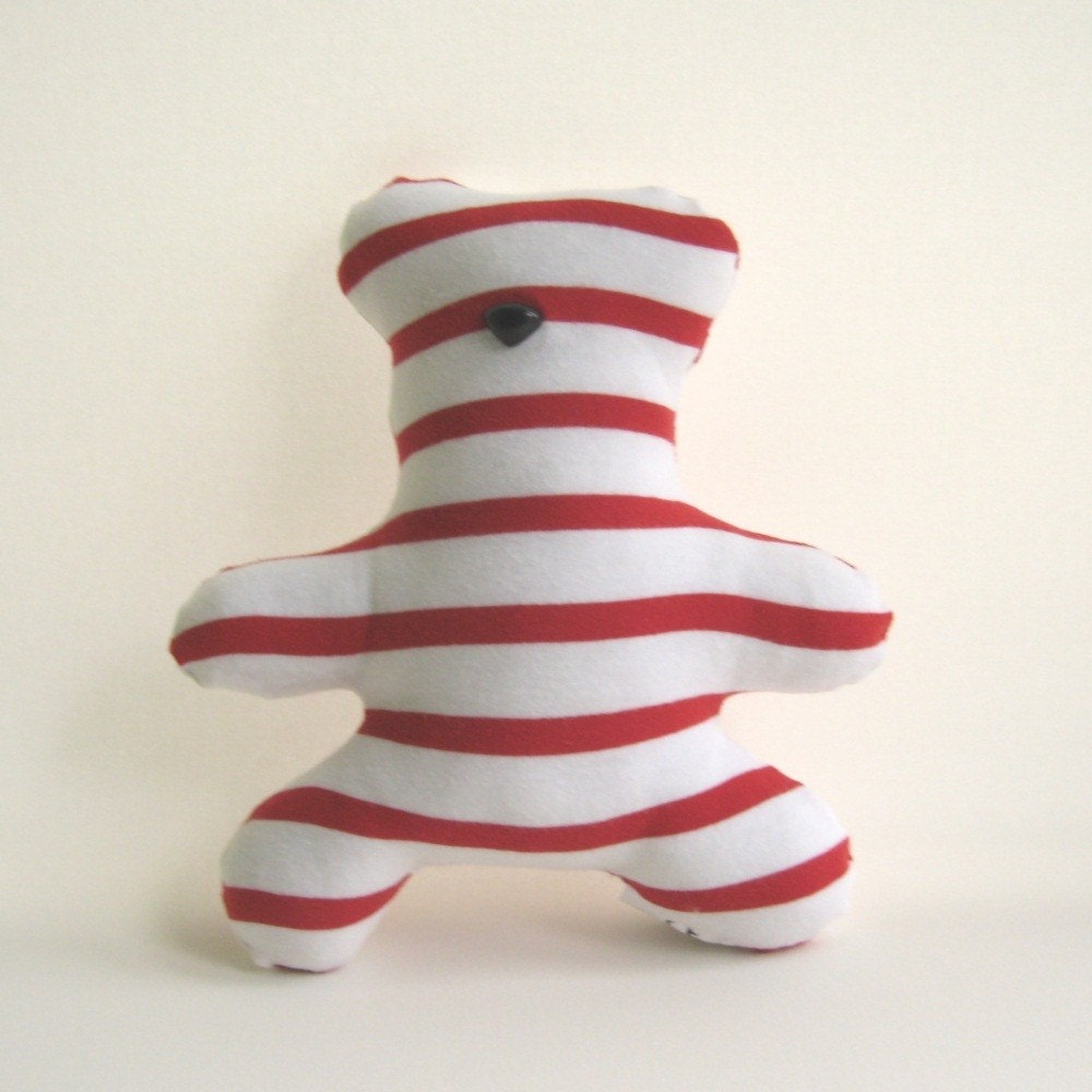 Handmade Bear - Candy Stripe Mini Bear