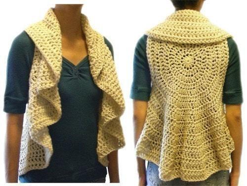 Gilet circulaire (9 grandeurs) - PDF Crochet Pattern - téléchargement immédiat