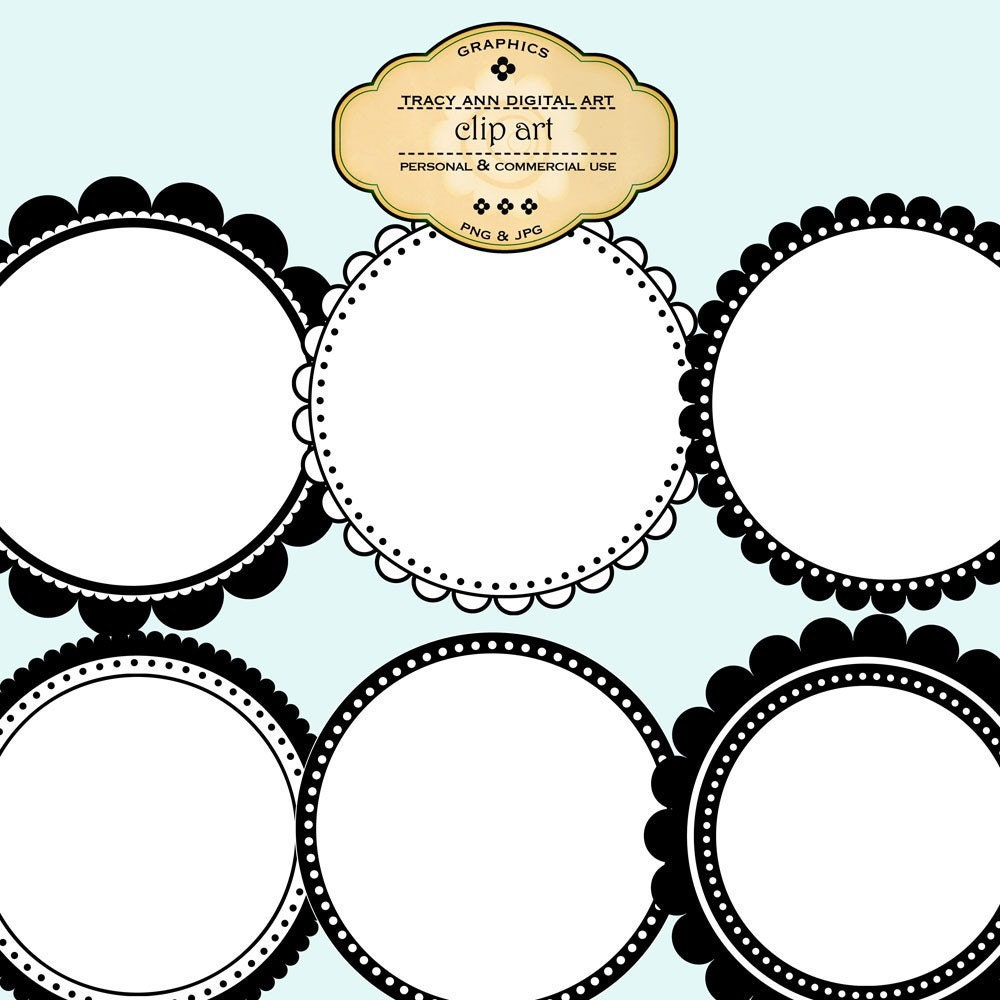 Round Clip Art Labels and Frames commercial by TracyAnnDigitalArt: www.etsy.com/listing/65274052/round-clip-art-labels-and-frames