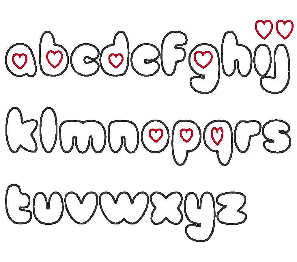 Cute Alphabet Fonts Using the font and point