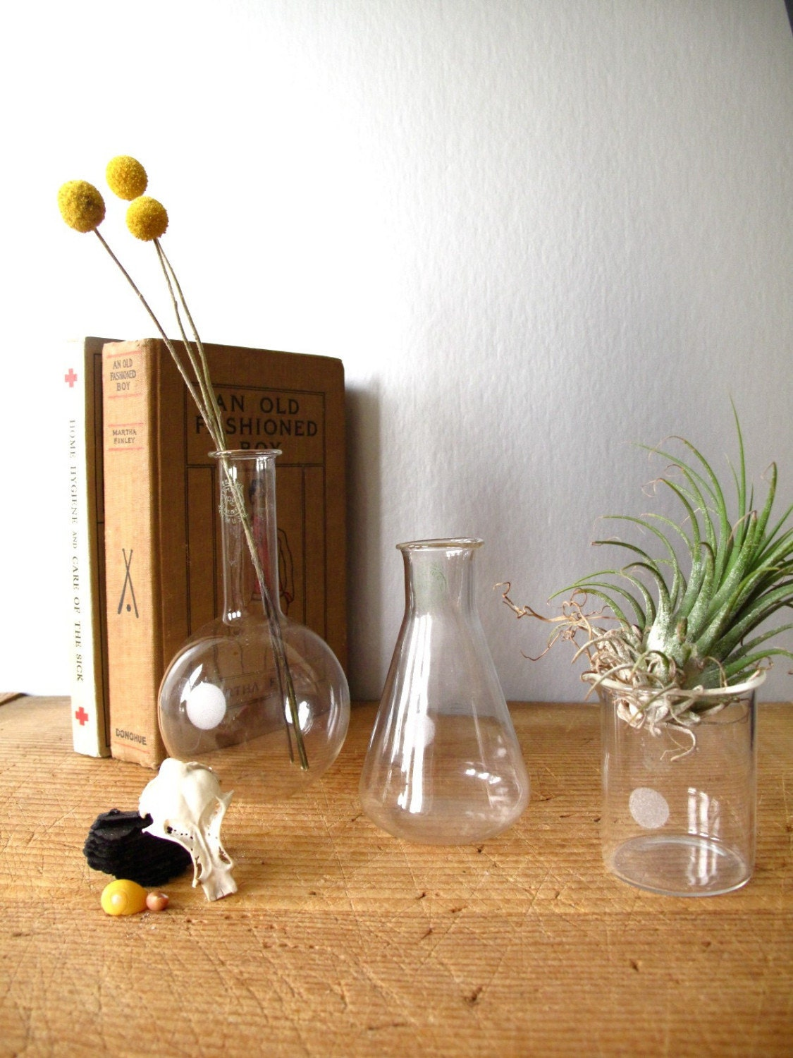 into the mix - 3 vintage pyrex beakers