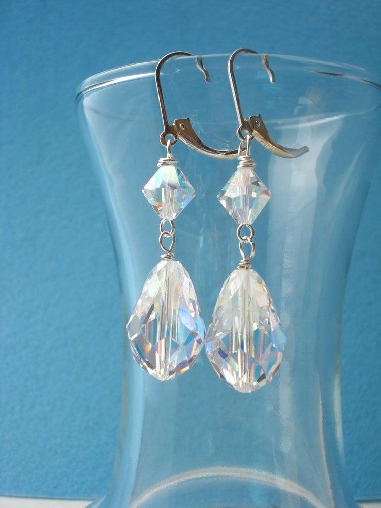 Perfect Pair of Swarovski Crystal Earrings
