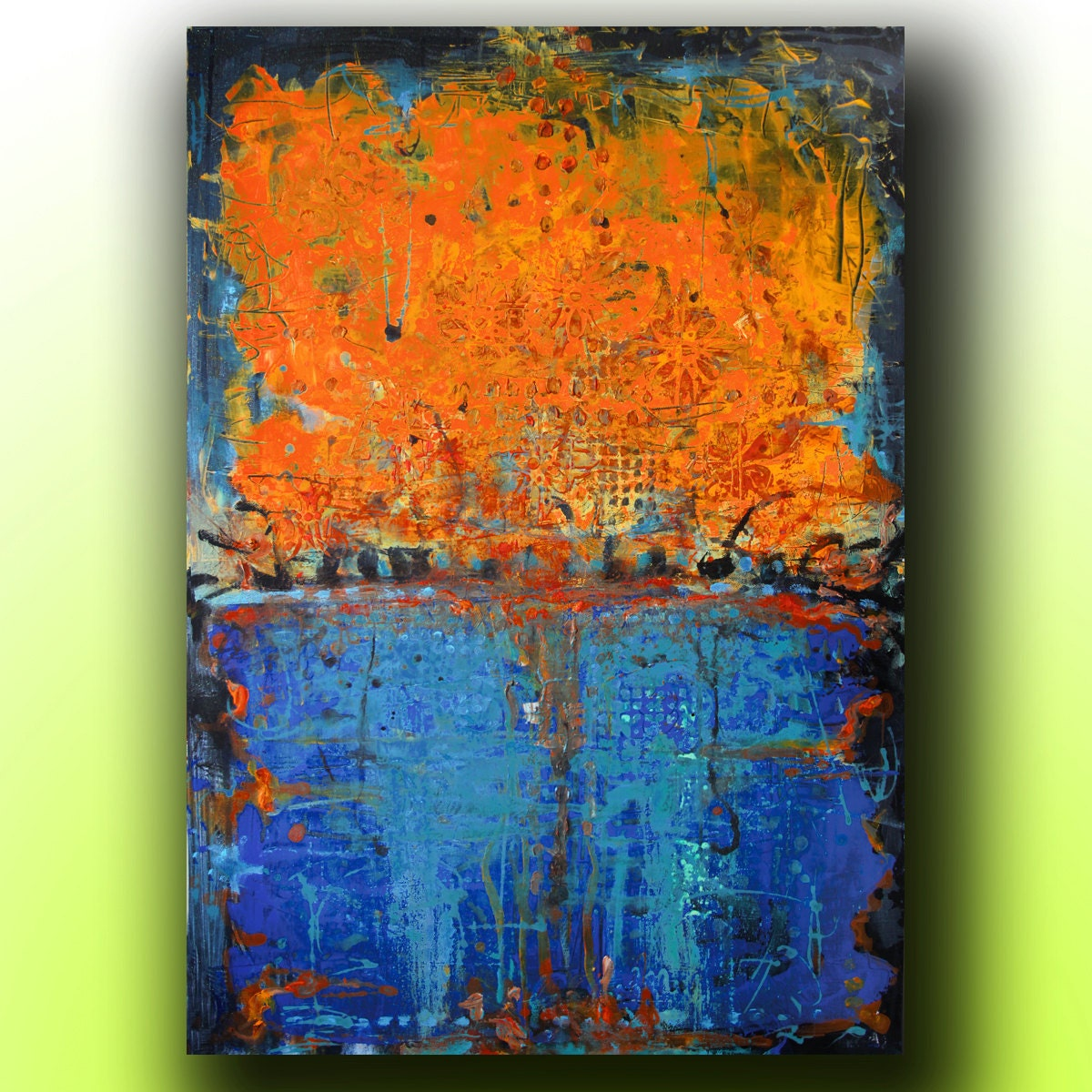 Art painting abstract acrylic painting on by colormind for Custom acrylic paint