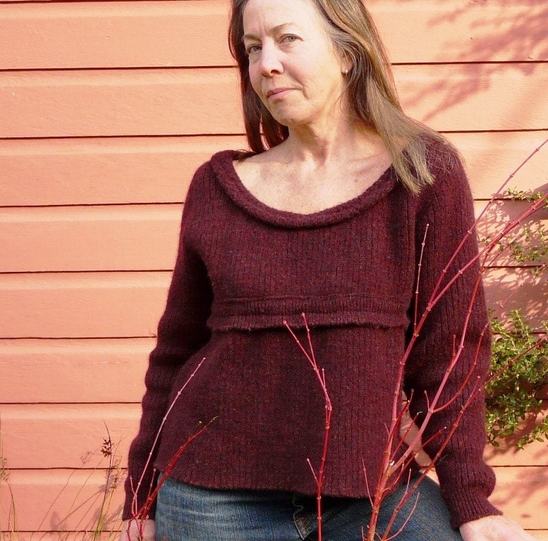 burgundy heather  pullover