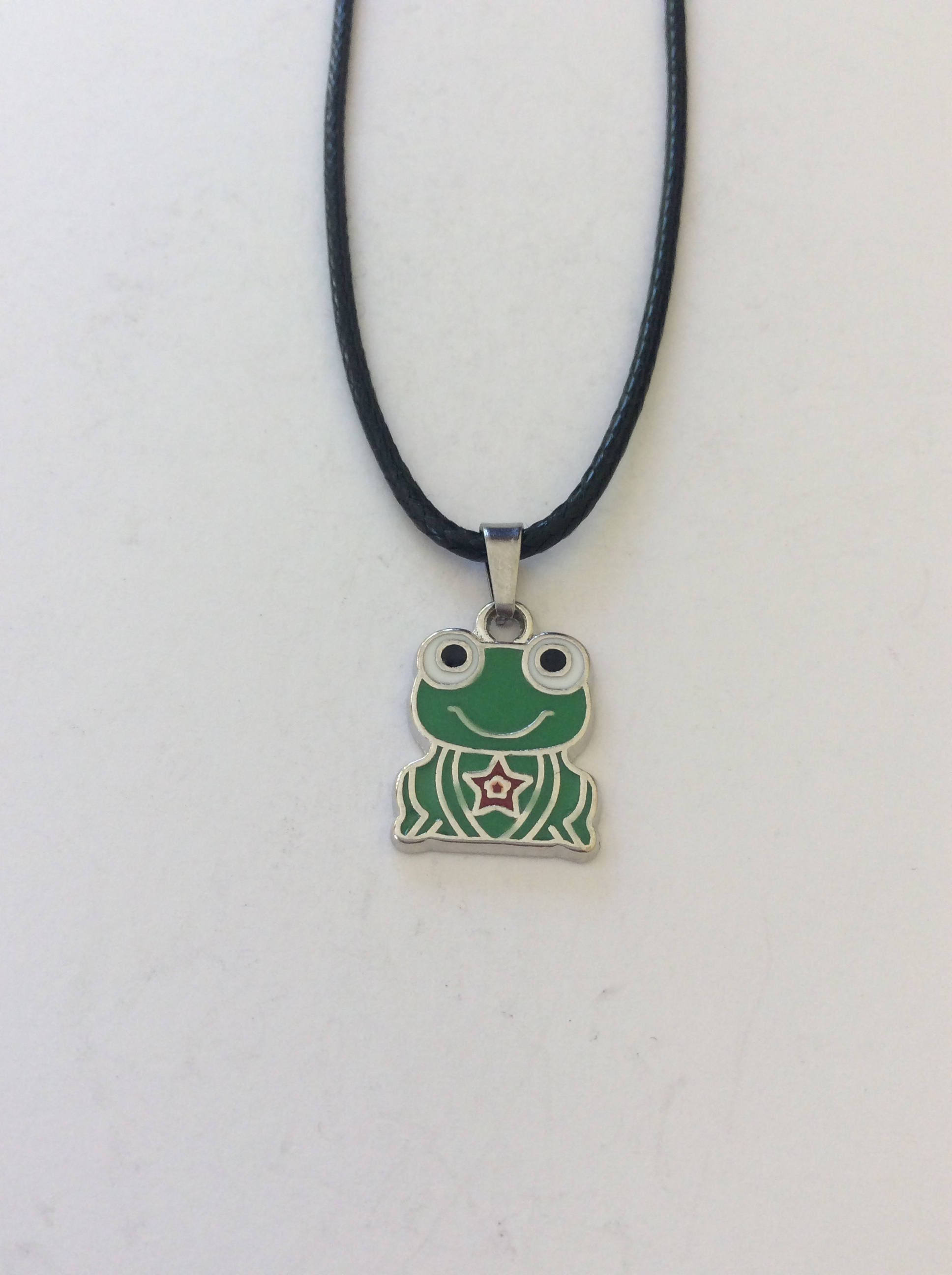 Childrens frog necklace  frog jewellery  childrens animal jewellery  childrens jewellery  childrens gift