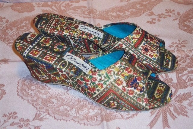 SLIP INTO SILK EXOTIC VINTAGE BOUDOIR SLIPPERS