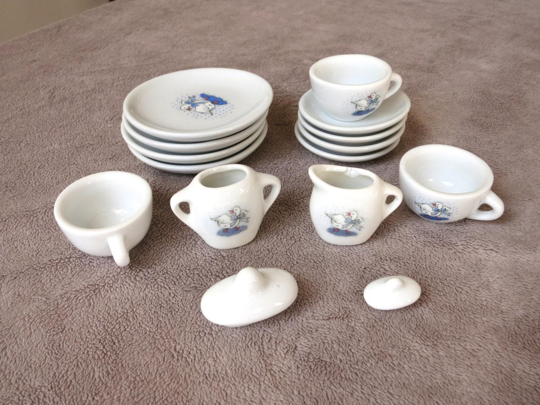 vintage dolls house china tea set incomplete girls by hoarderswag. Black Bedroom Furniture Sets. Home Design Ideas