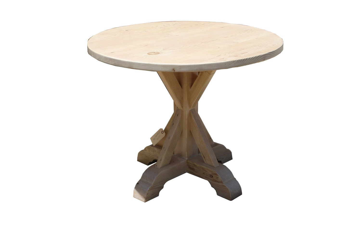 Items Similar To Round Reclaimed Wood Dining Table On Etsy