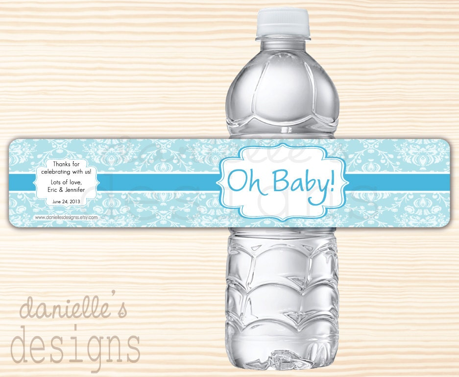 Baby Shower Water Bottle Labels Template Have a baby shower coming up?