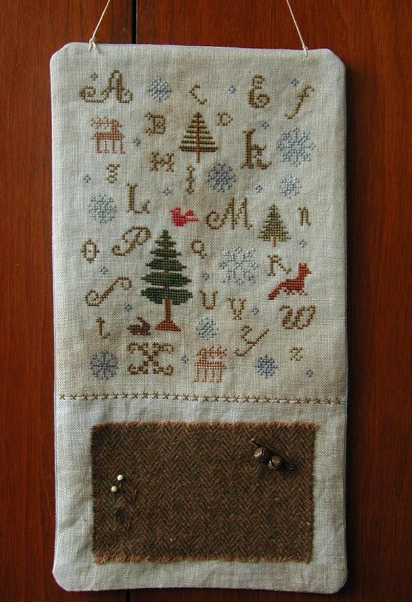 Primitive cross stitch hanging sampler by threadworkprimitives
