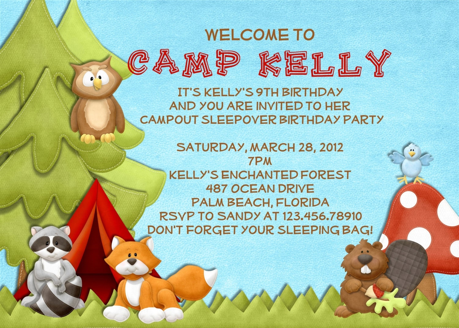 Campout Birthday Party Invitations was best invitation template