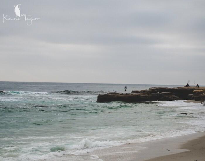 """La Jolla Beach - San Diego Landscape Photo - """"Windansea Fishermen"""" 11x14 Print - KelsieTaylorPhoto"""