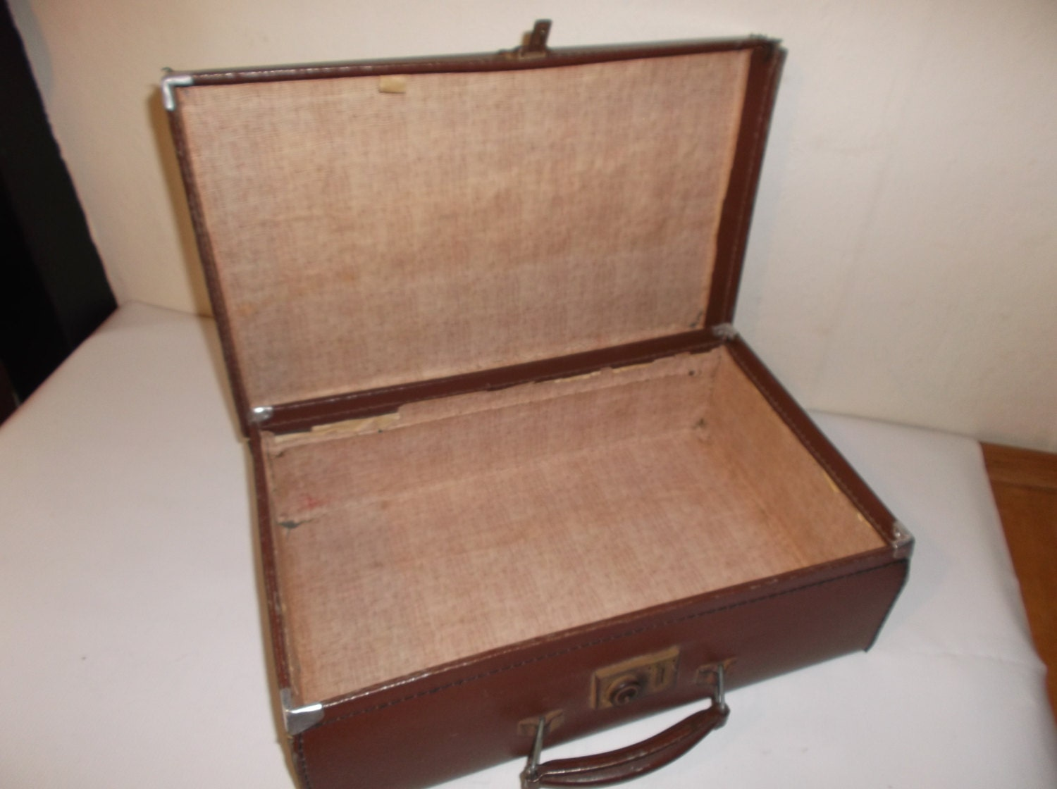 Vintage Train Travel Suitcase Grooming and Toiletries Case
