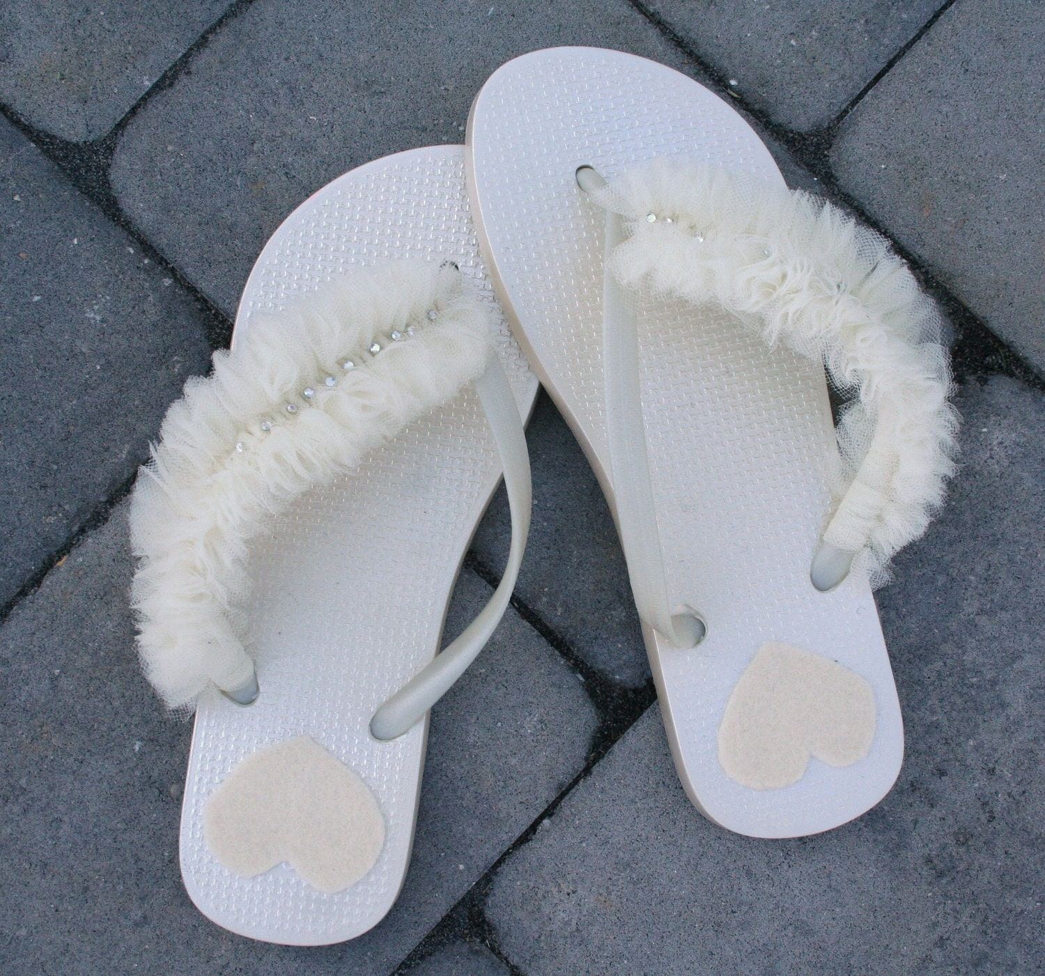 Items Similar To Flip Flops For The Bride Or Bridal Party On Etsy