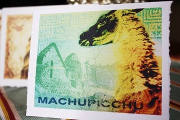 The Machu Picchu Collage Greeting Cards