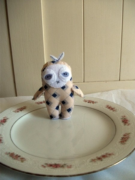 Vanilla Bird-Man Doll - Vanilla and blue plushie with wings