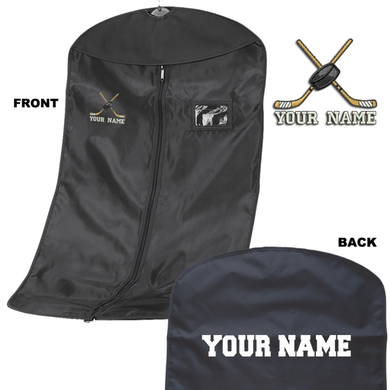 3 x Personalised Embroidered Suit Carrier  Kit Bag  Ice Hockey  Personalized Ice Hockey Suit CarrierKit bag