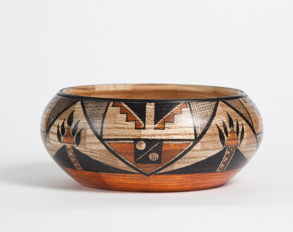 Segmented and Turned Shallow Bowl - White Ash - TurnedSouth
