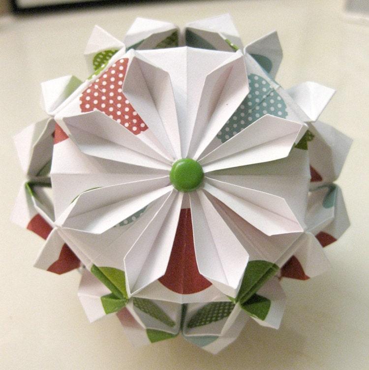 origami blume. Black Bedroom Furniture Sets. Home Design Ideas