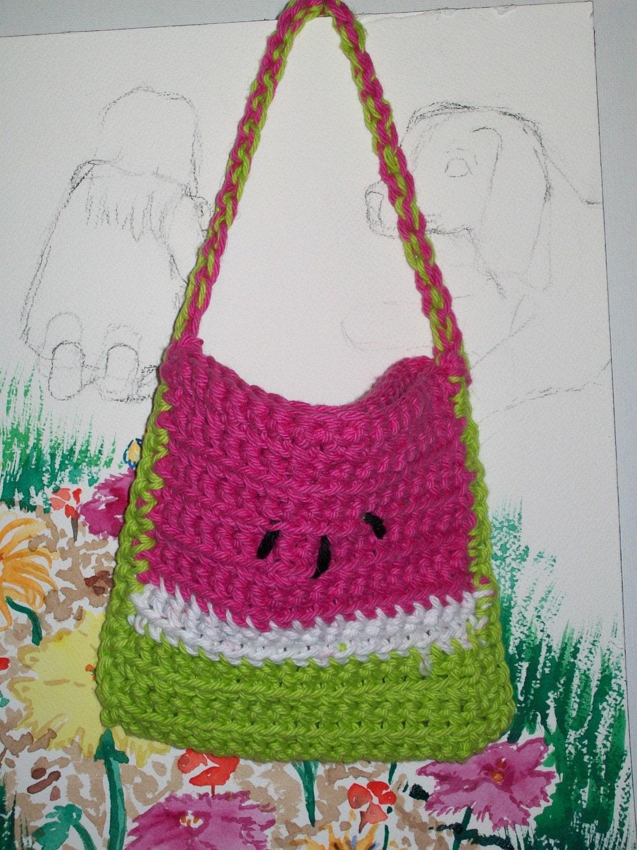 little girls watermelon purse