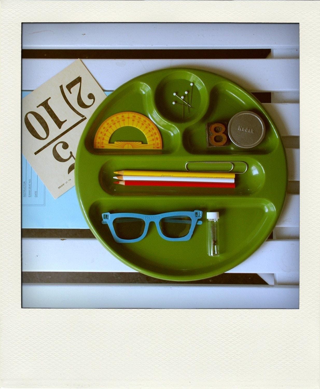 Desk Tidy Organizer Tray - Avocado Green