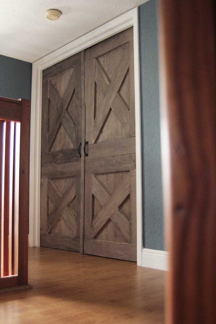 wooden barn door unique handmade interior rustic by