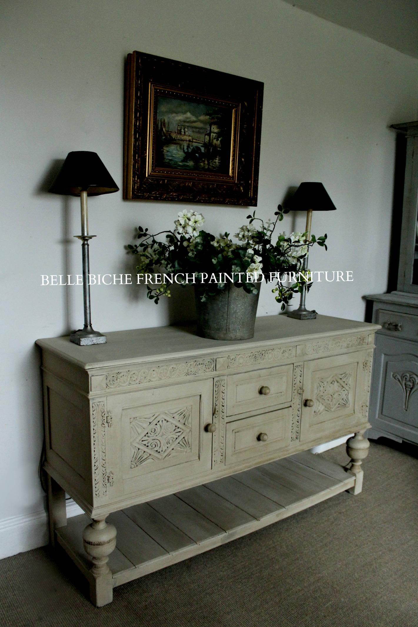 For Sale Richly Carved Antique Oak Pot Board Dresser Base Sideboard Server
