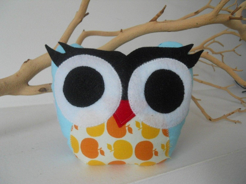 bellamina's bookend/door stopper/ paper weight plush owl