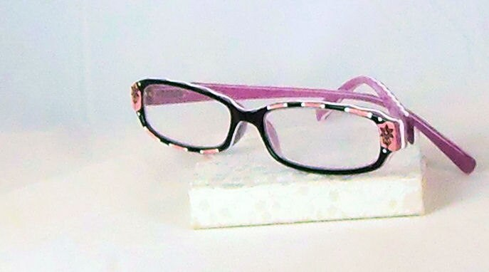 pink ribbon ii handpainted reading glasses 150 by starality