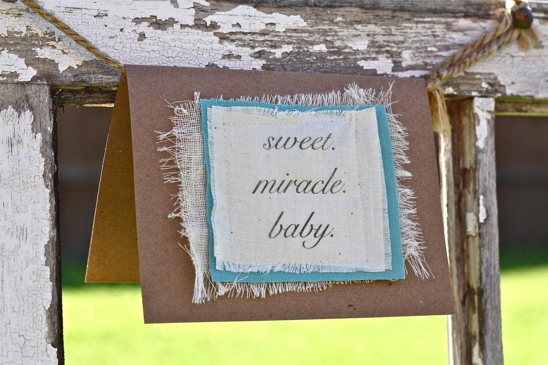 sweet miracle baby single card